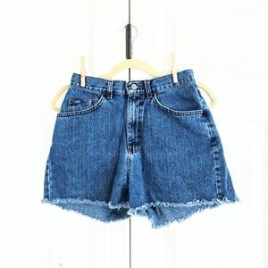 Vintage Lee Jeans high waisted cut off shorts